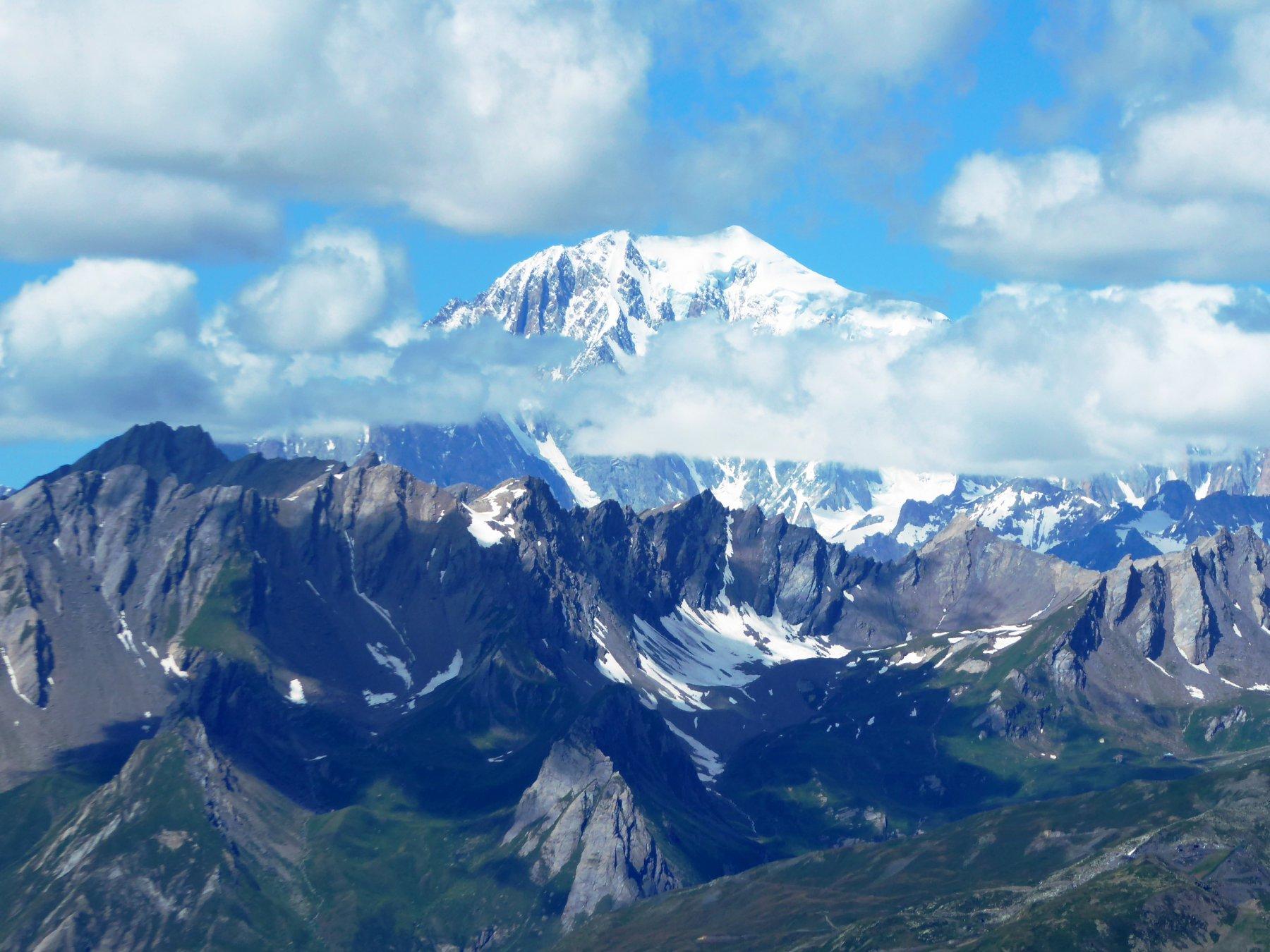 Il monte Bianco dall'anticima