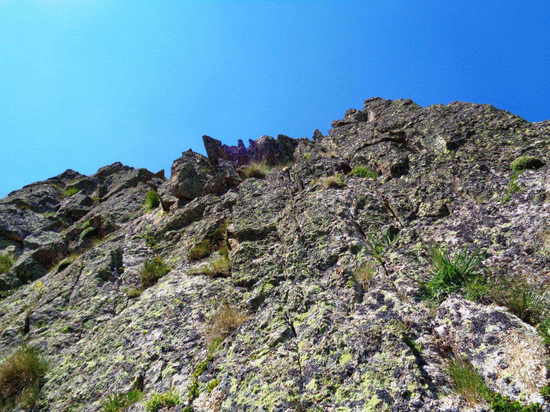 muretti verticali di ottima roccia