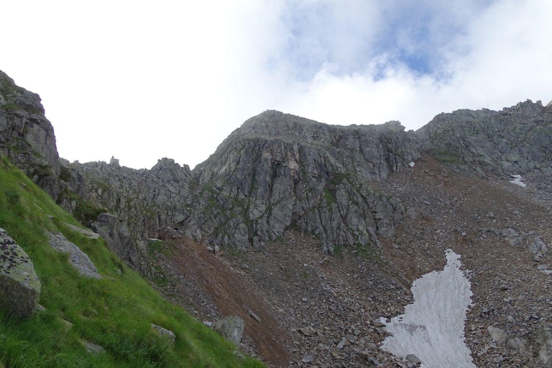 il Palone del Badile con, a sinistra, l'omonimo colle