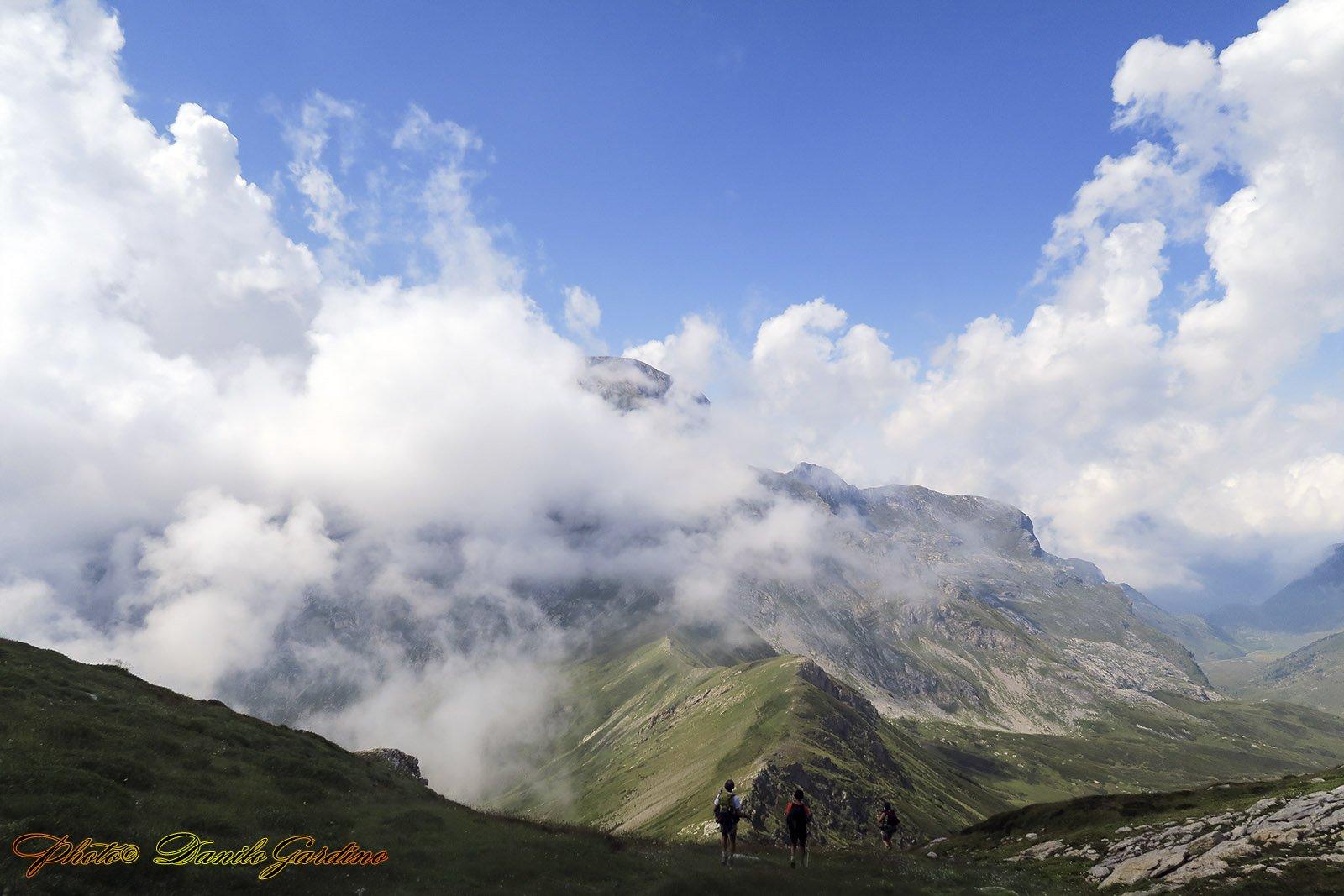Cima delle Saline coperta dalla nuvola