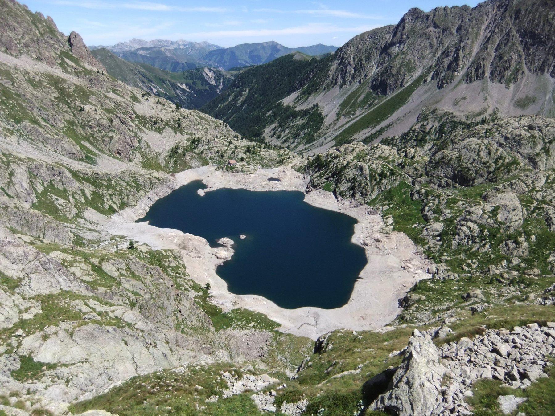 Il Lac Vert mezzo vuoto per lavori di manutenzione