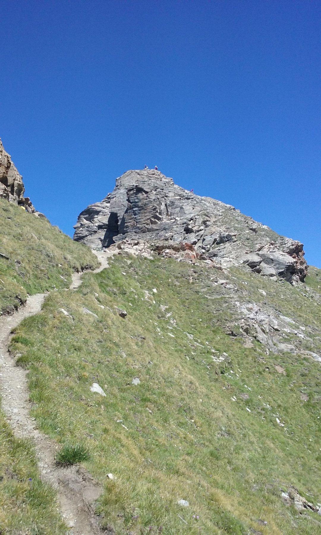 Quasi in cima prima delle rocce finali