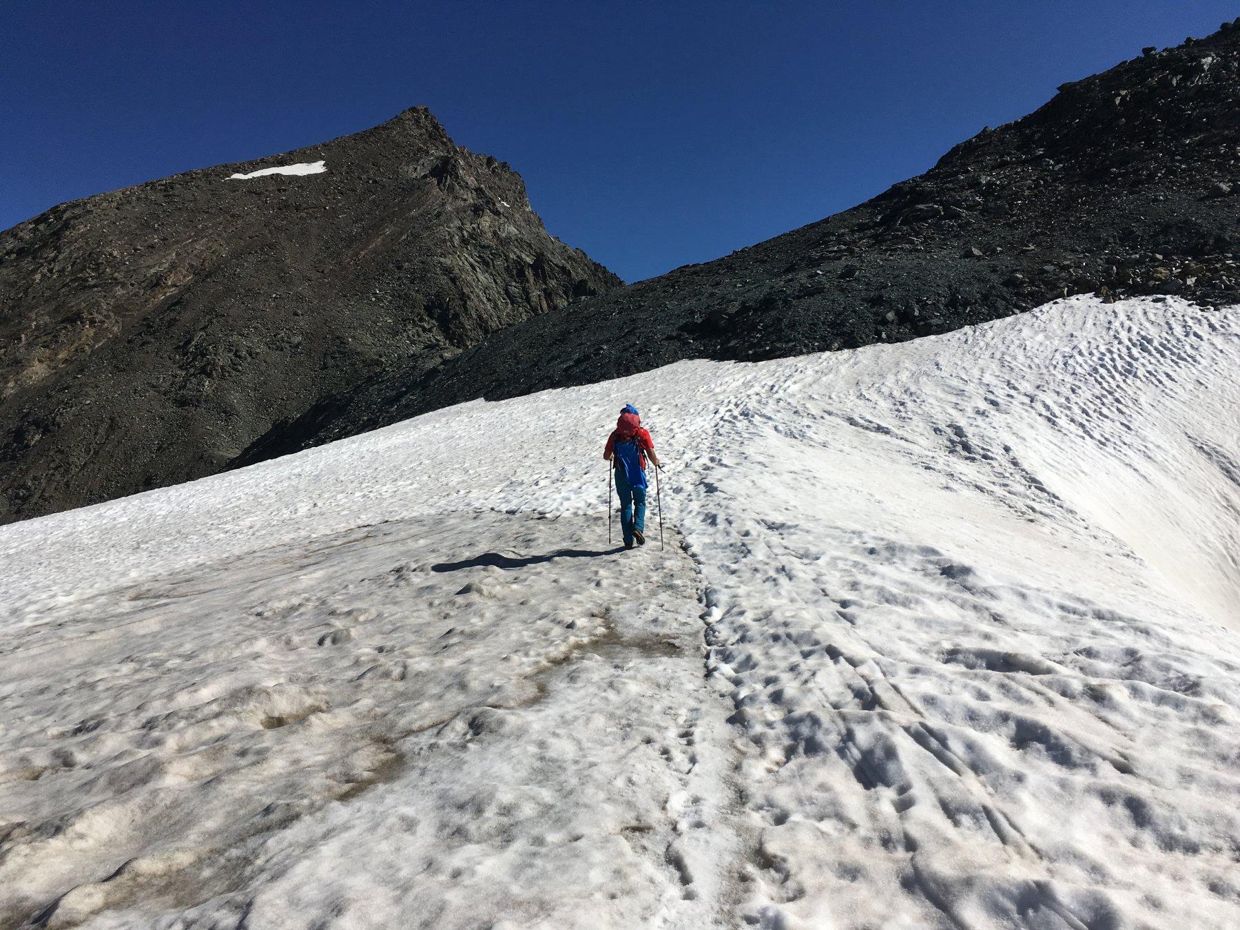 Sul ghiacciaio verso il Collerin