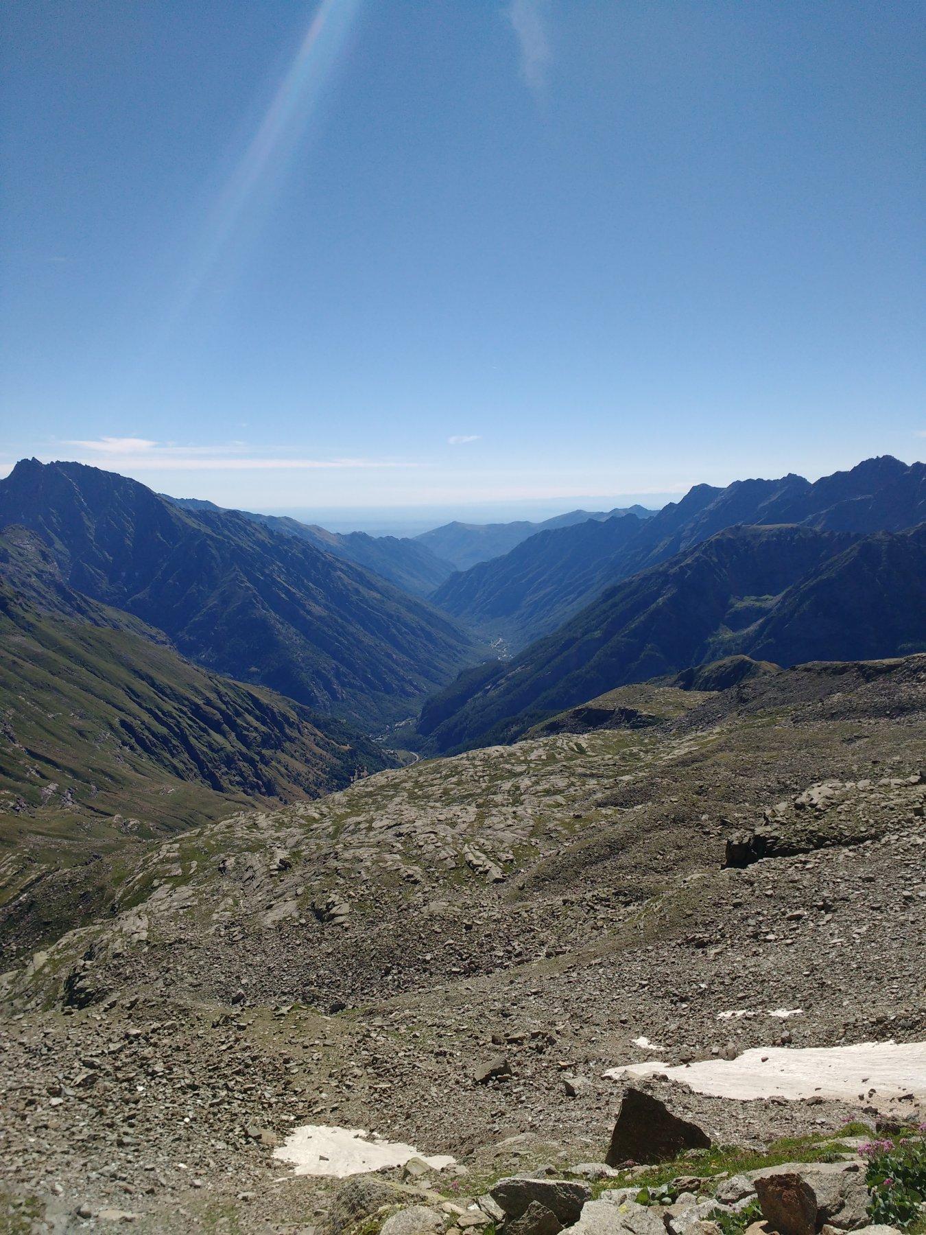 Valle Orco e pianura in lontananza