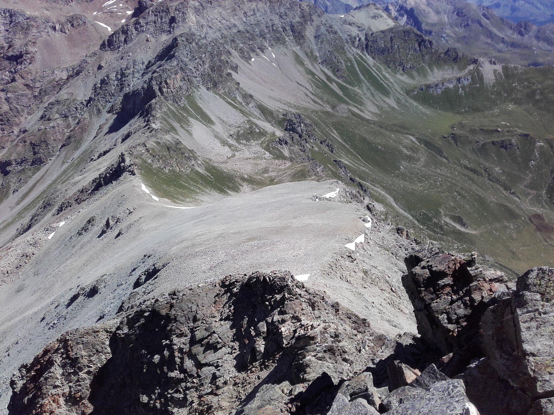 Dalla cresta verso il Col Vessona