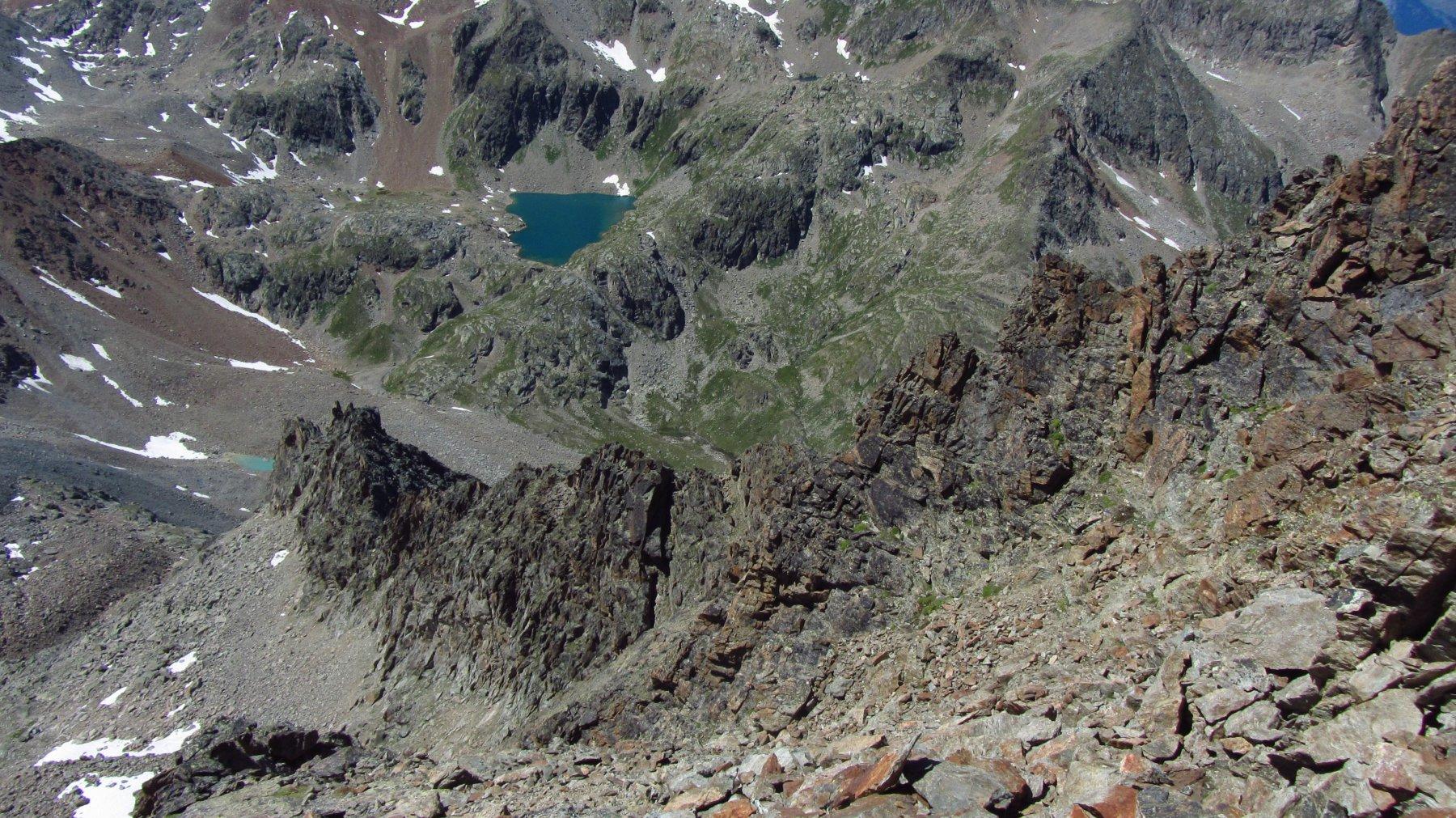 Parte della cresta osservata durante la discesa