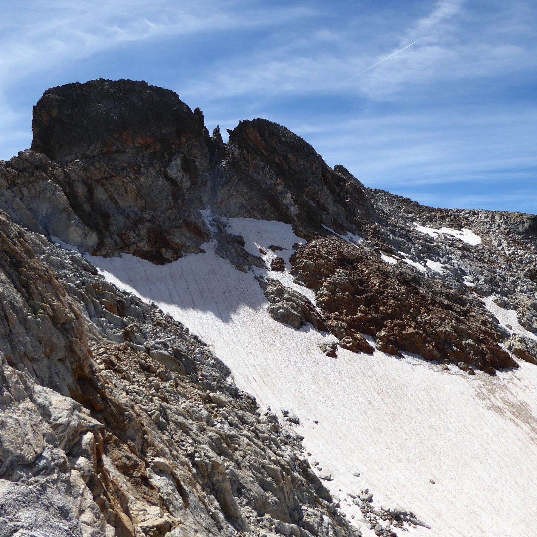 La cima Centrale vista dalla Est