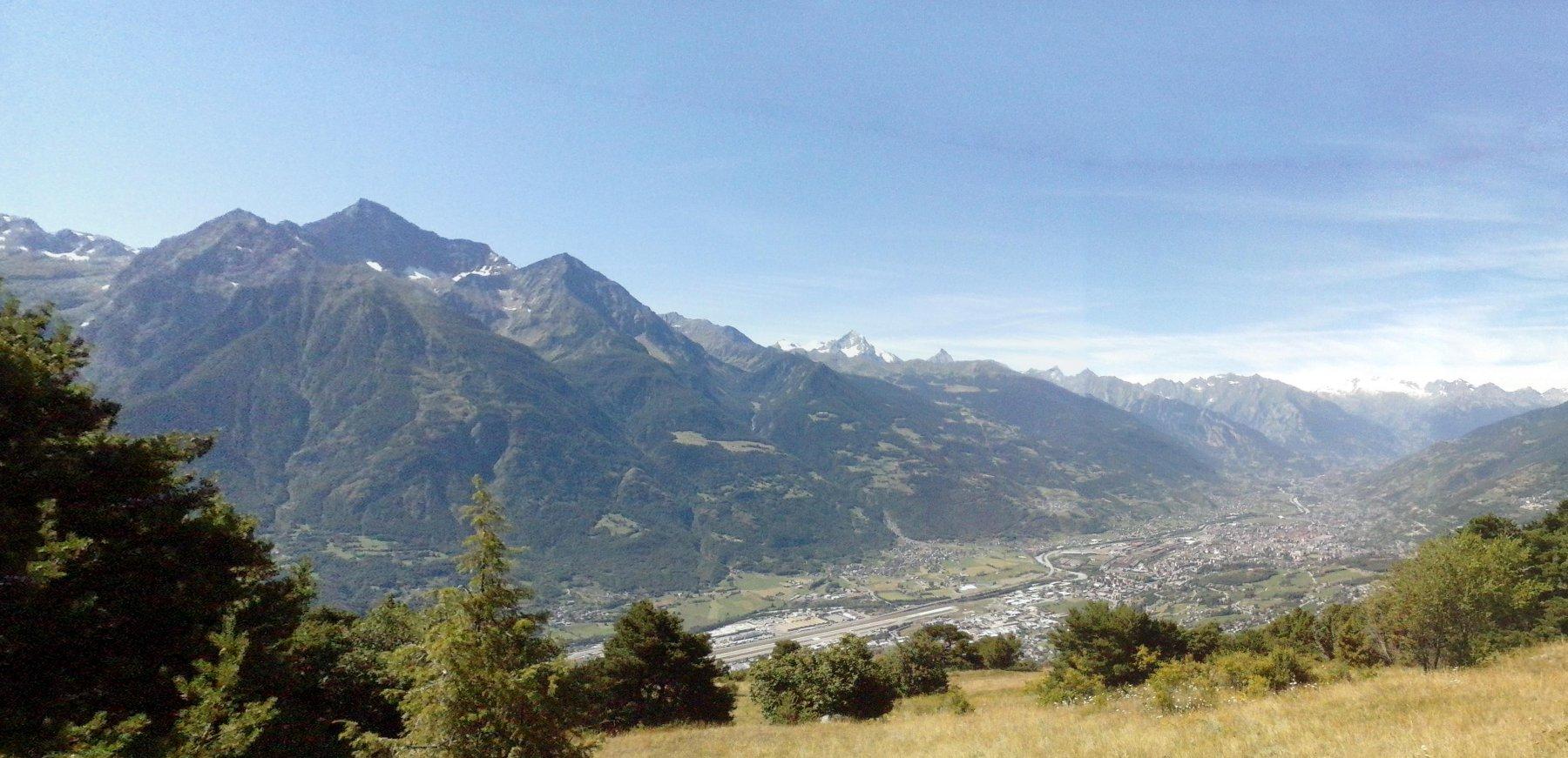 panorama sulla valle centrale