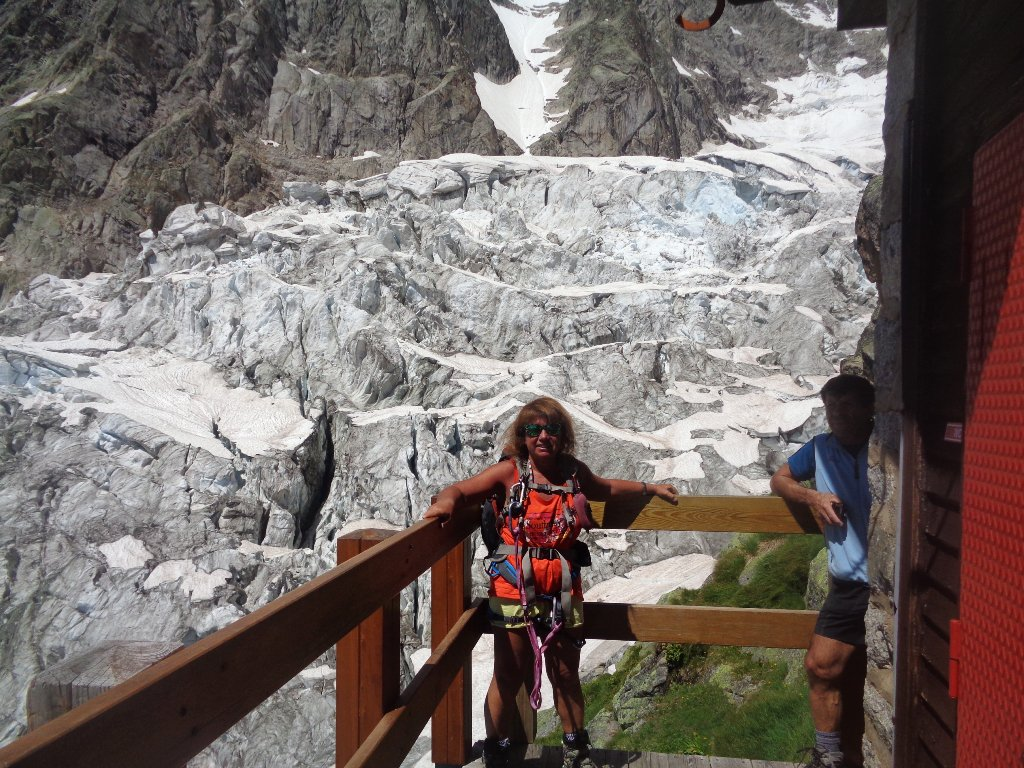 alle spalle ghiacciaio di Planpliceaux