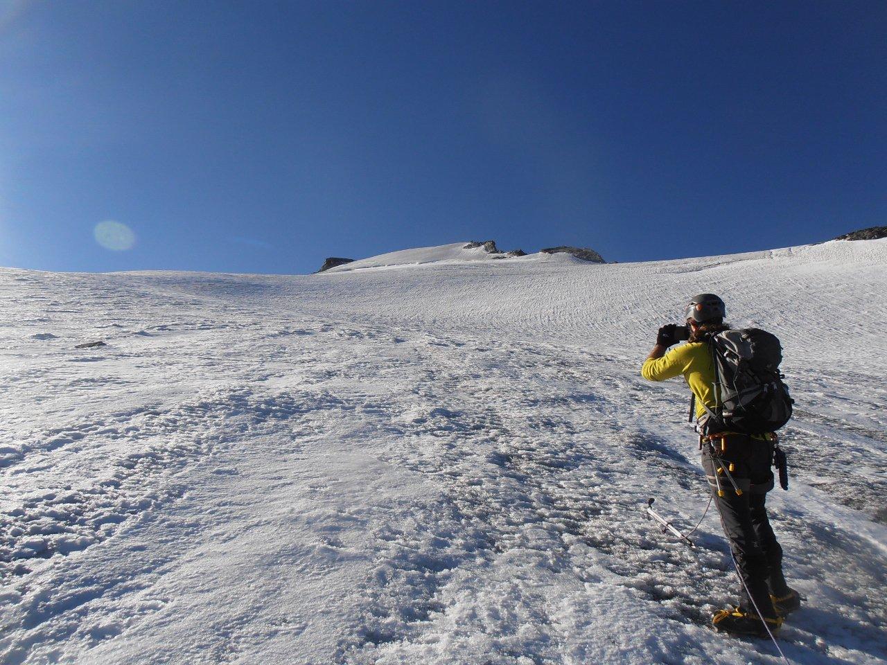 03 - sul ghiacciaio verso la cima