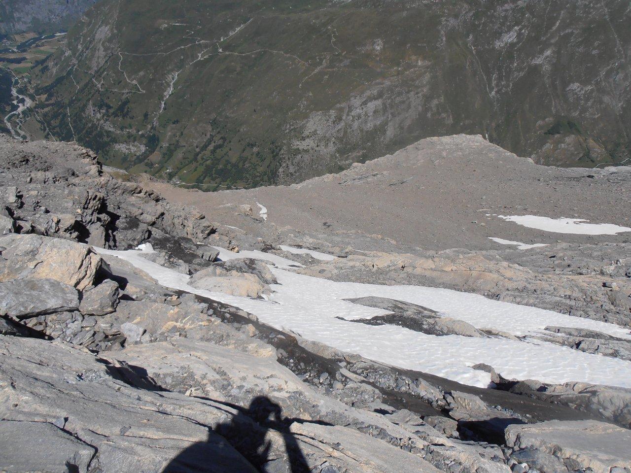 10 - canalino e roccette di accesso al ghiacciaio