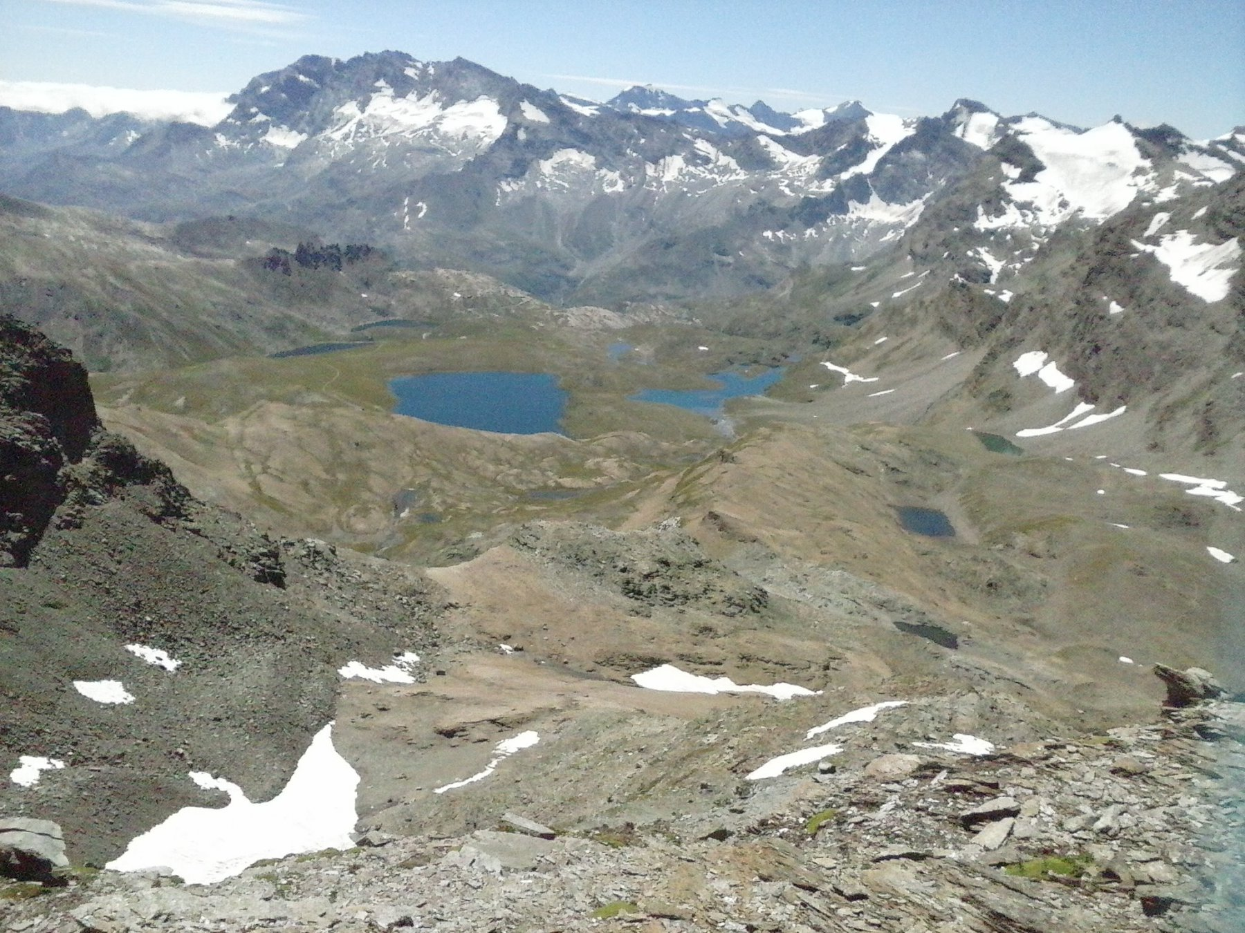 panorama verso il Piemonte ed i laghi Rosset...