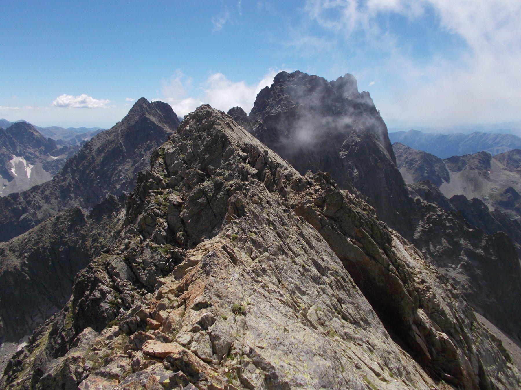 in primo piano la Cima Paganini,,e subito dietro la Cima dsi Nasta..dalla cresta nord..