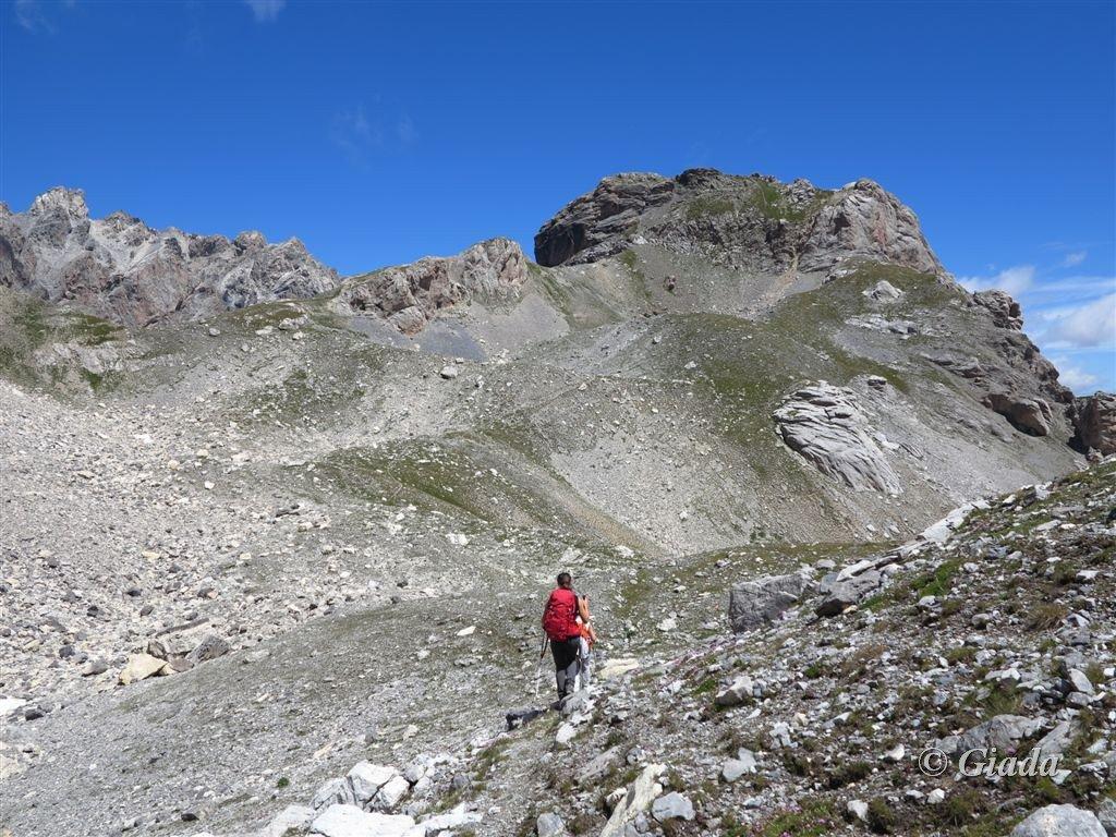 Viraysse (Monte) e Cime de la Coste du Col da Saretto per il Colle Sautron 2016-08-07