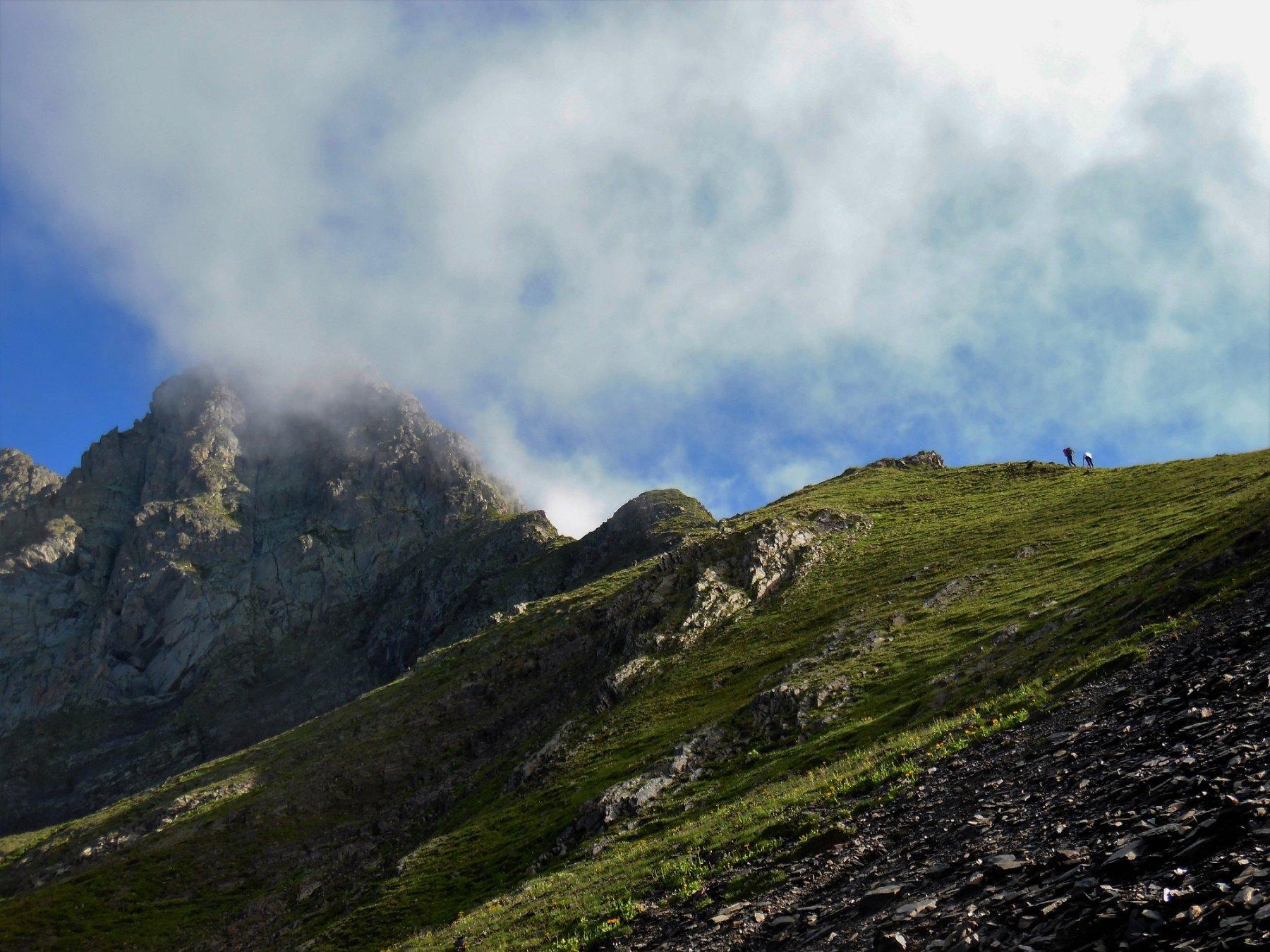 Cresta Diavolino dal Passo di Valsecca