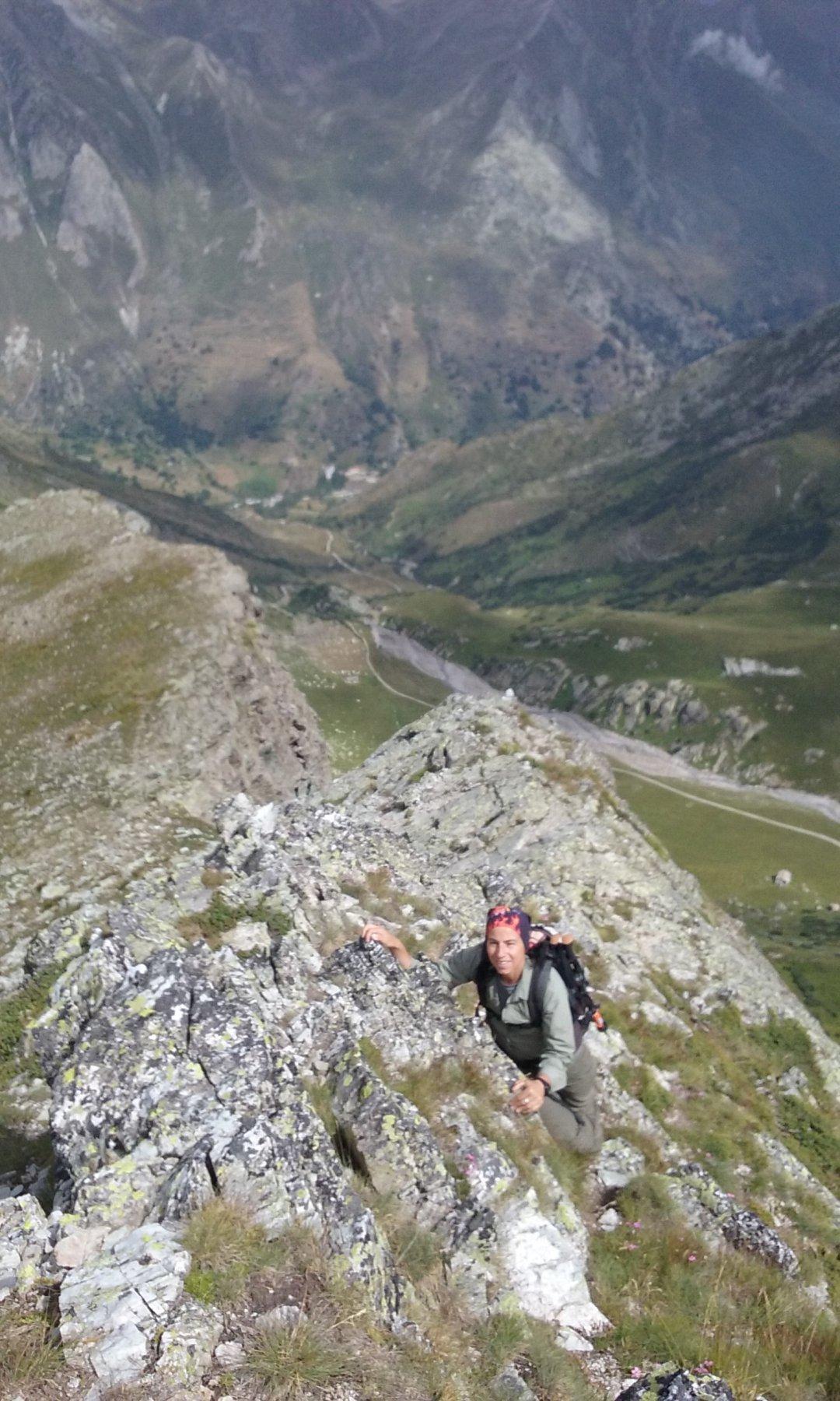 Scendendo dalla cima