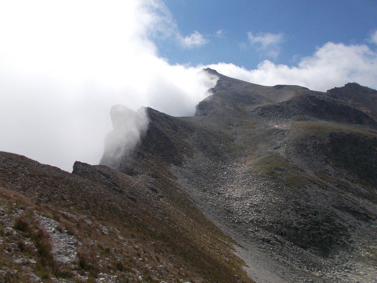 La lunga cresta dal Colle di Rui alla cima