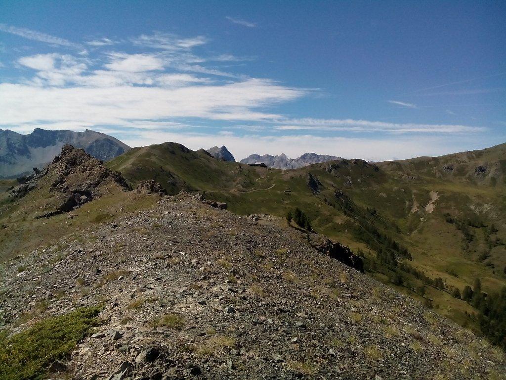 sullo sfondo il Col Saurel