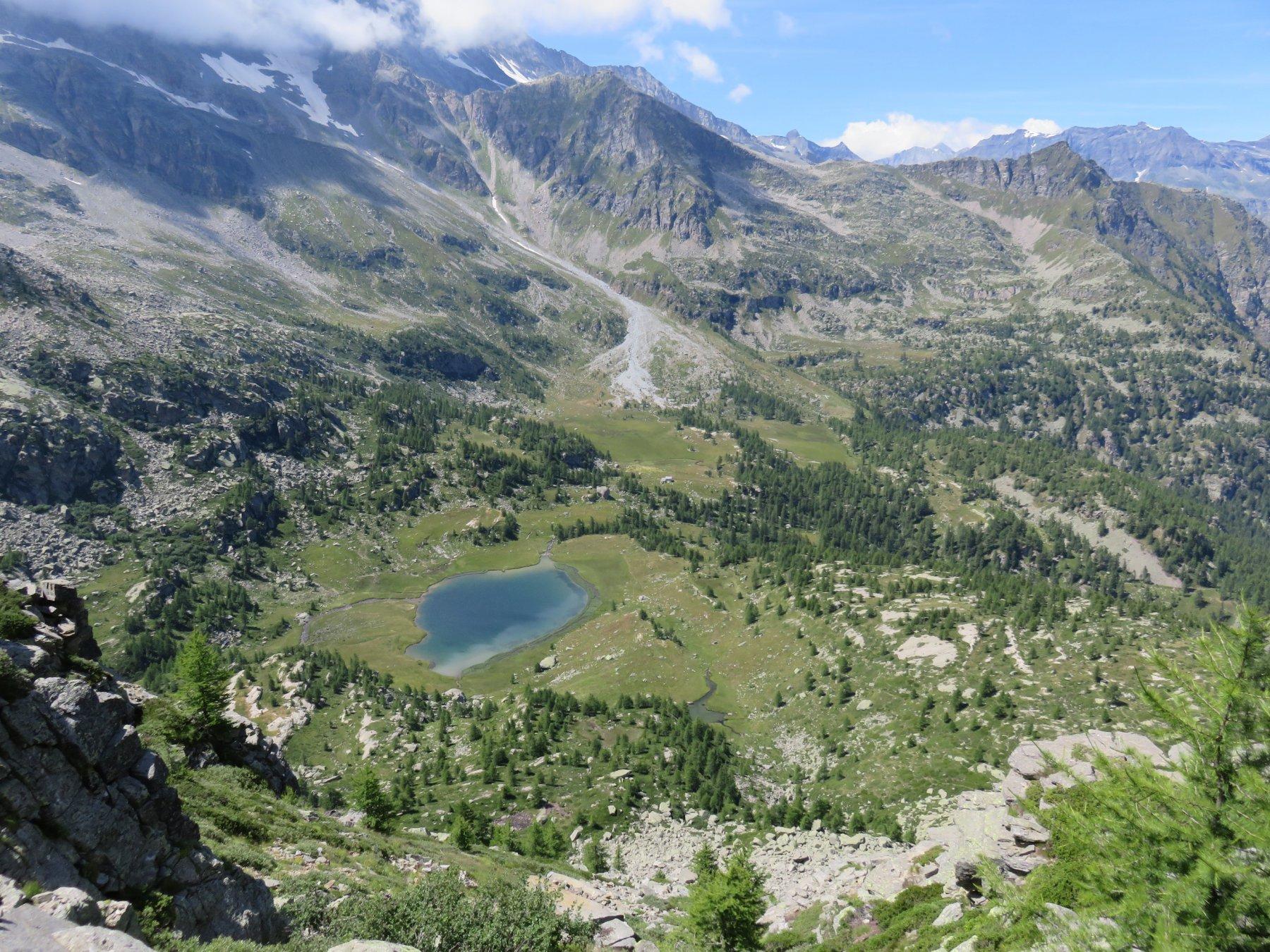 Lago Dres dall'alto