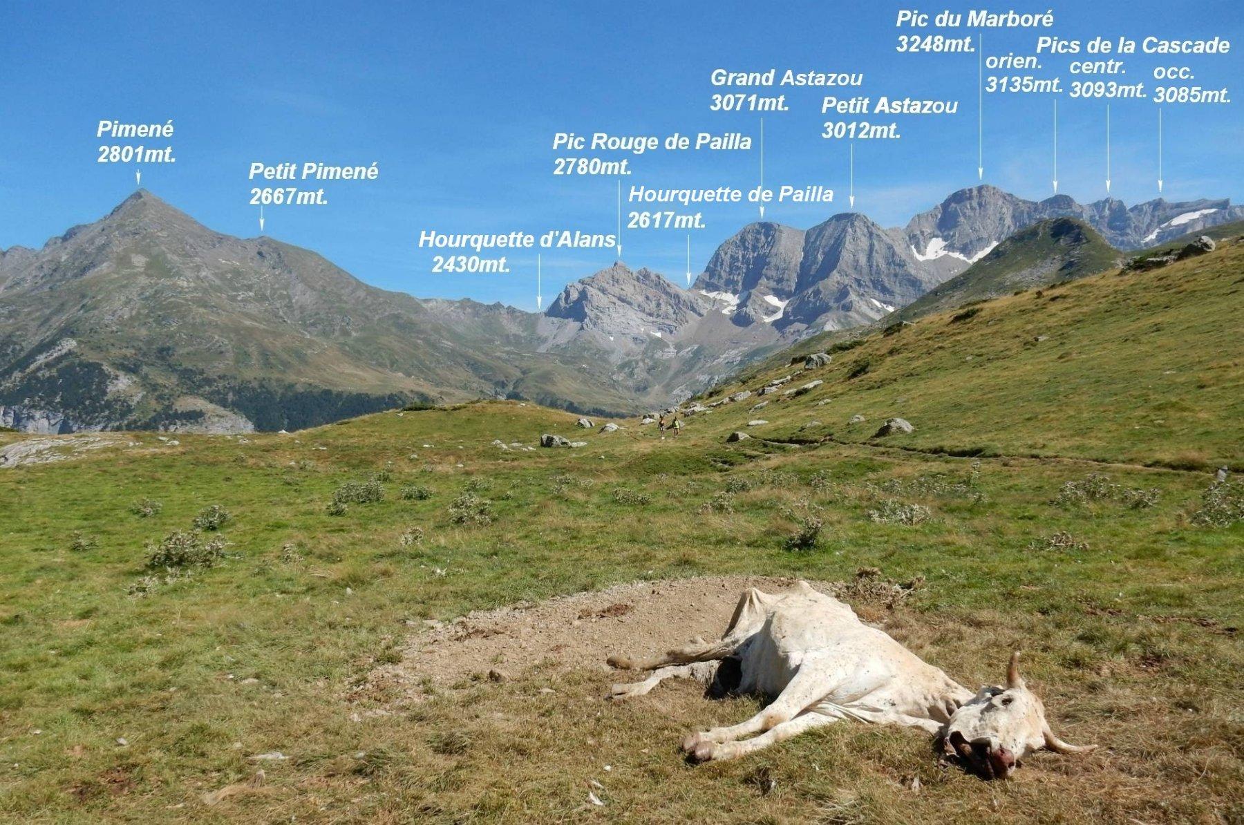 Trek Pirenei Ordesa Gavarnie tappa 3: Dal Ref. de Bayssellance allo Chalet la Grange de Holle 2016-08-11