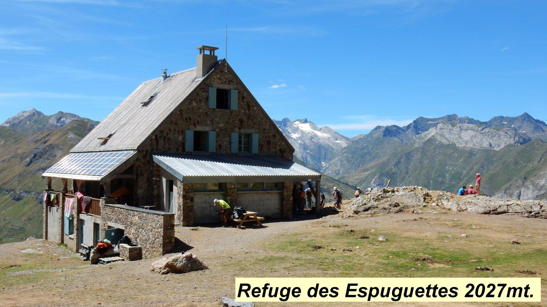 Trek Pirenei Ordesa Gavarnie Tappa 4 : Dallo Chalet la Grange de Holle al Ref. des Espuguettes 2016-08-12