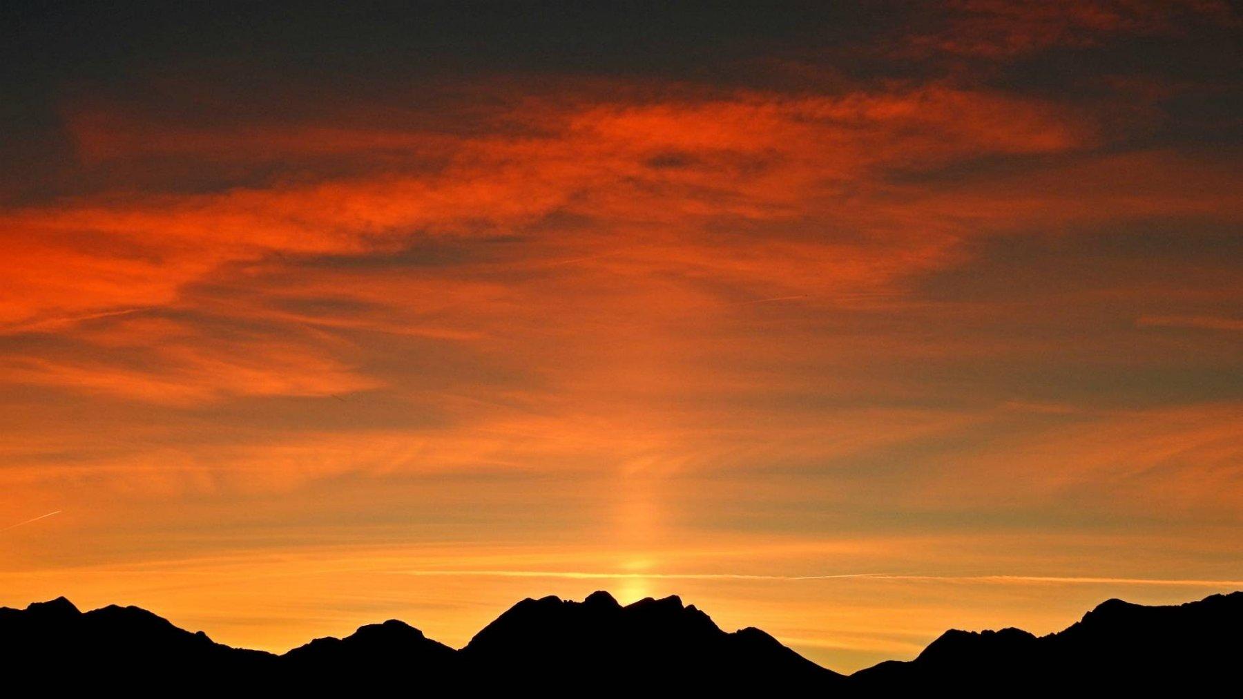 Camera con tramonto super top al Ref.des Espuguettes 2027mt.