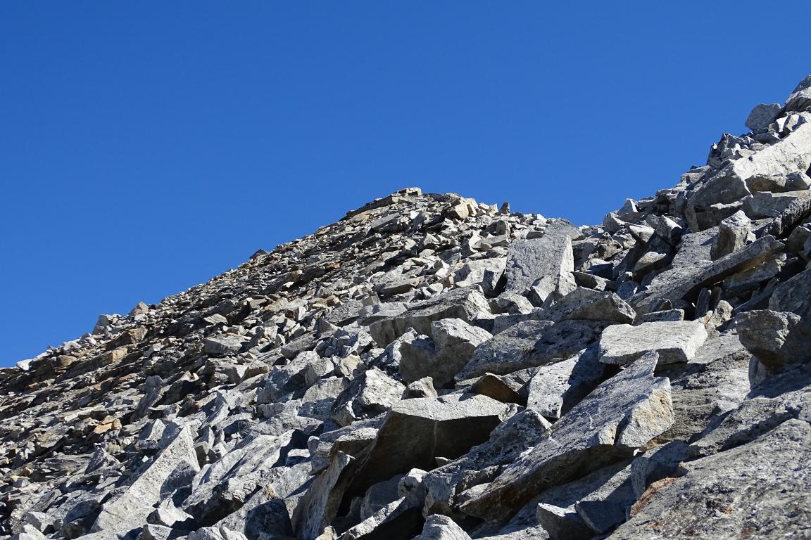 ultimo tratto di salita per la cima