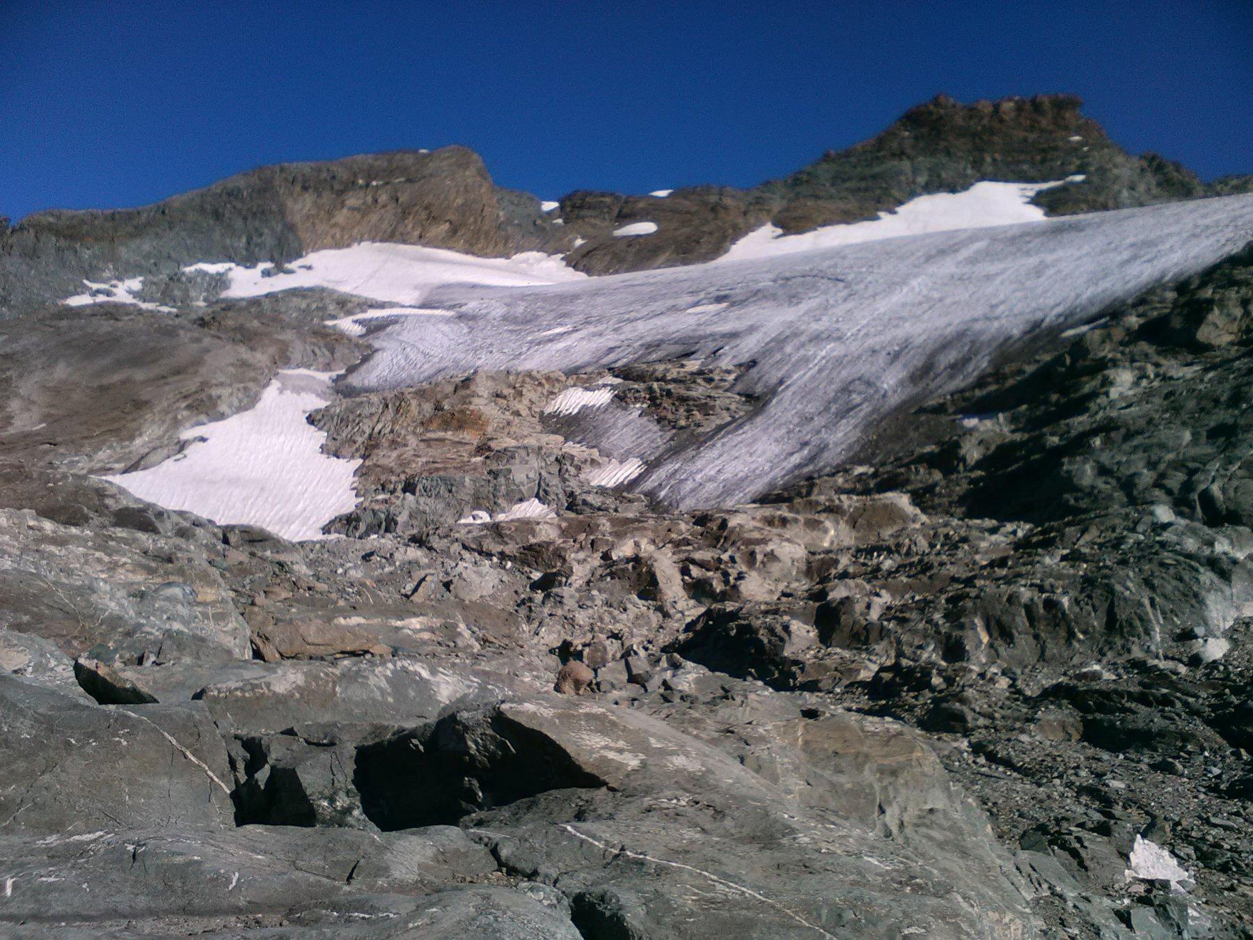 Fronte del ghiacciaio.