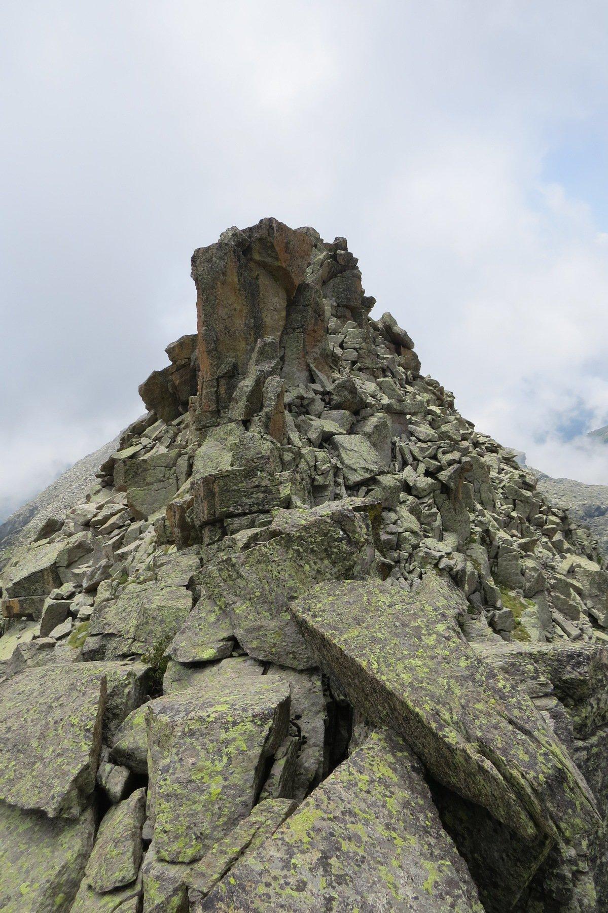 Rocce della sommità di Punta Virginea superiore