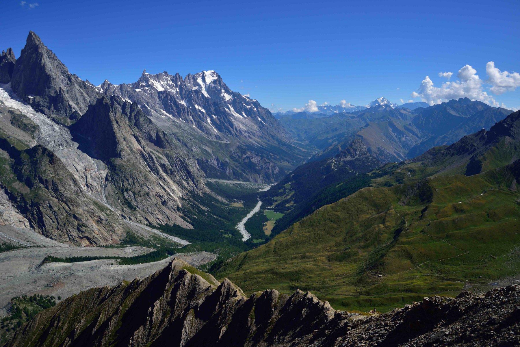 Veduta sulla Val Ferret