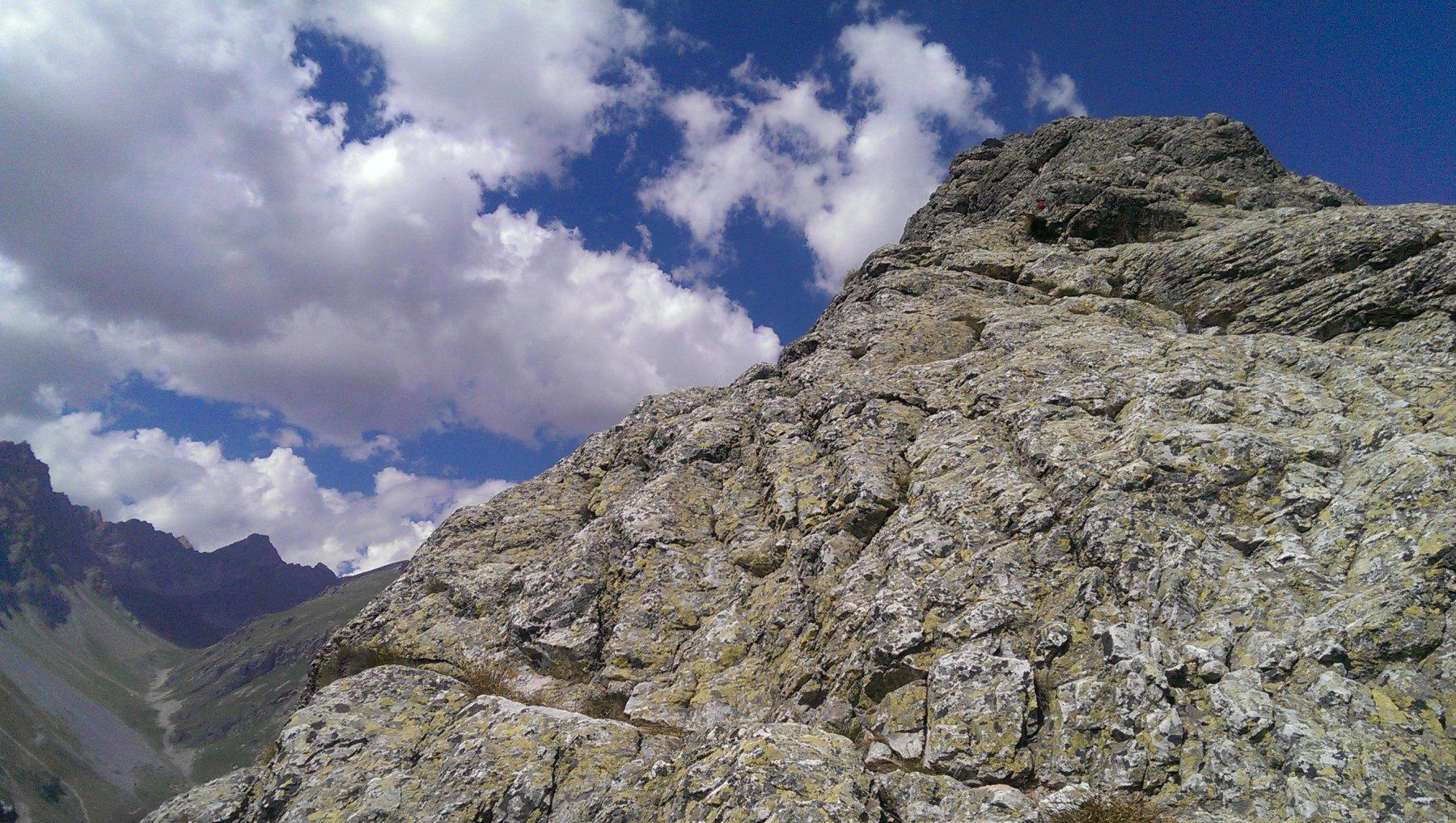 parte panoramica in cresta a metà via circa