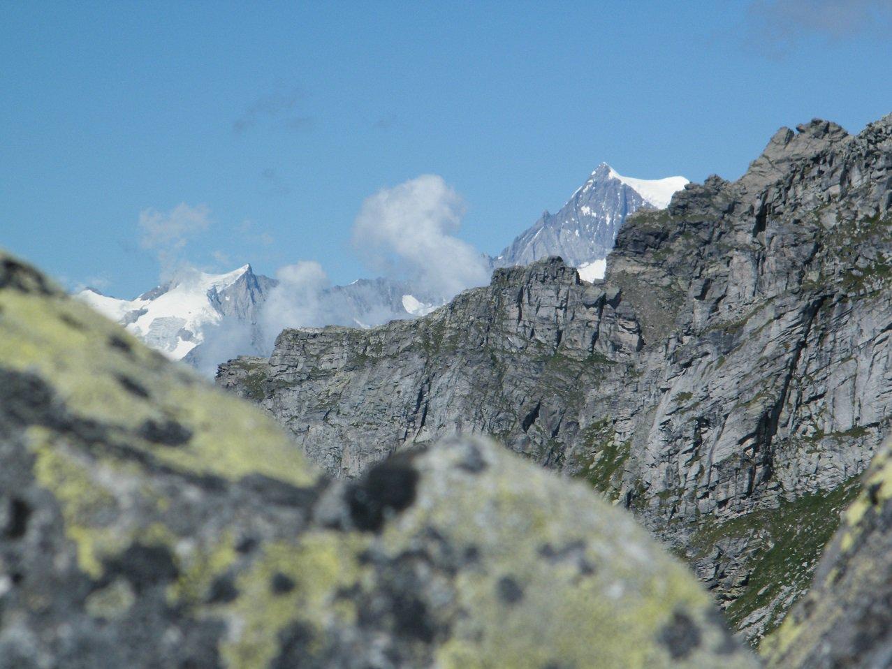 Vette dell'Oberland viste dalla cima.