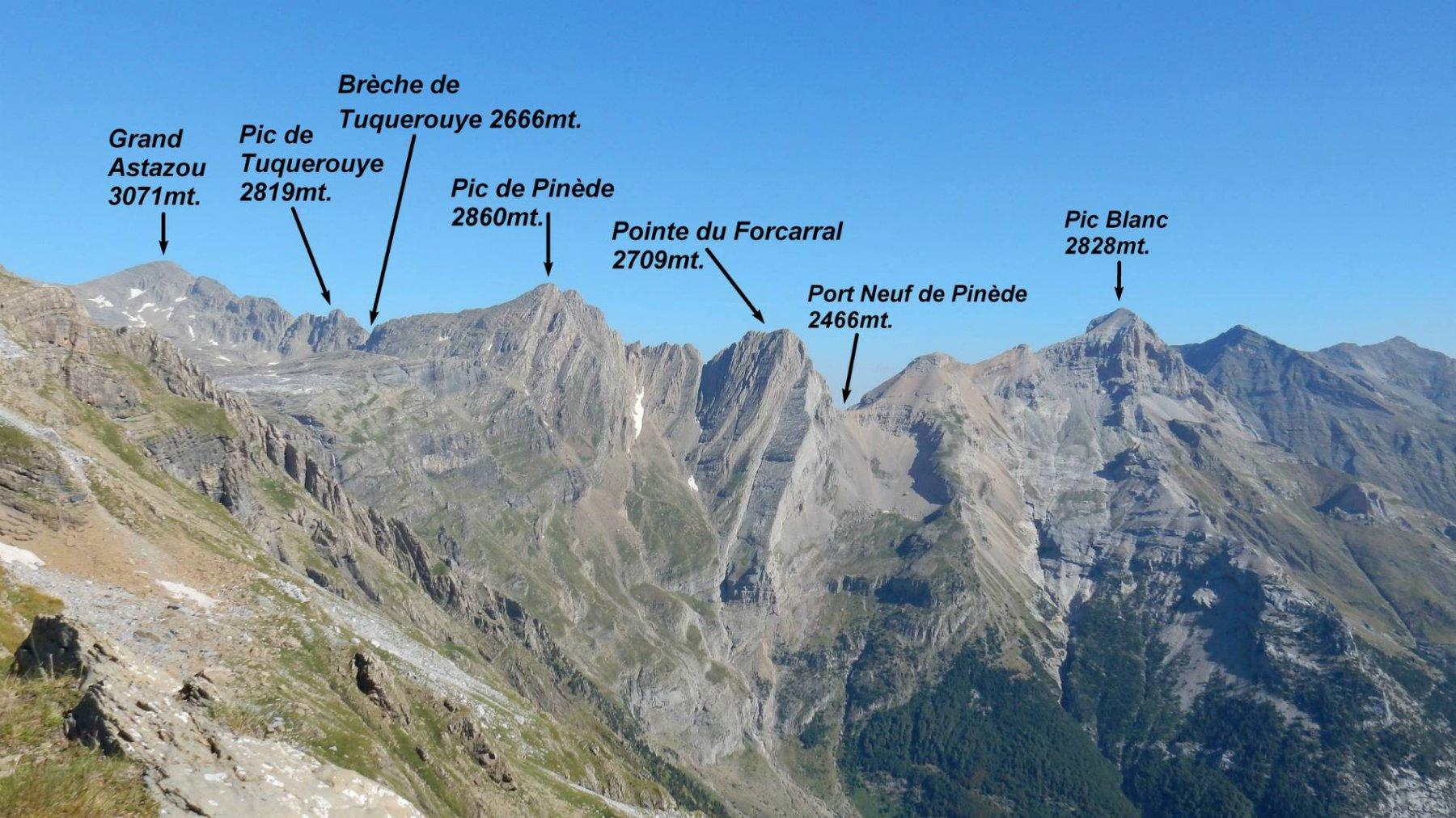 Panorama dal Collado de Anisclo verso il Balcon de Pineta.