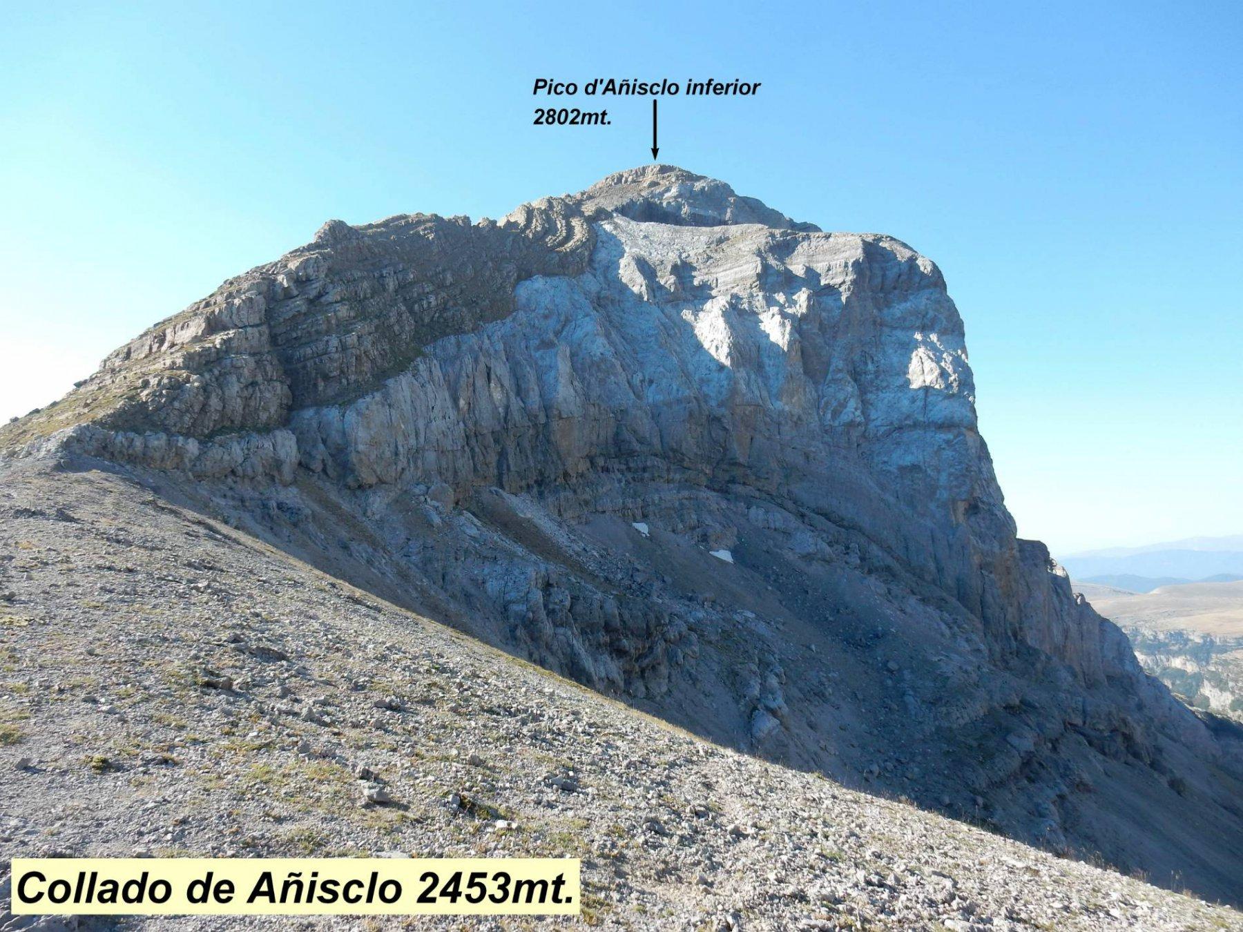 Collado de Anisclo 2453mt.