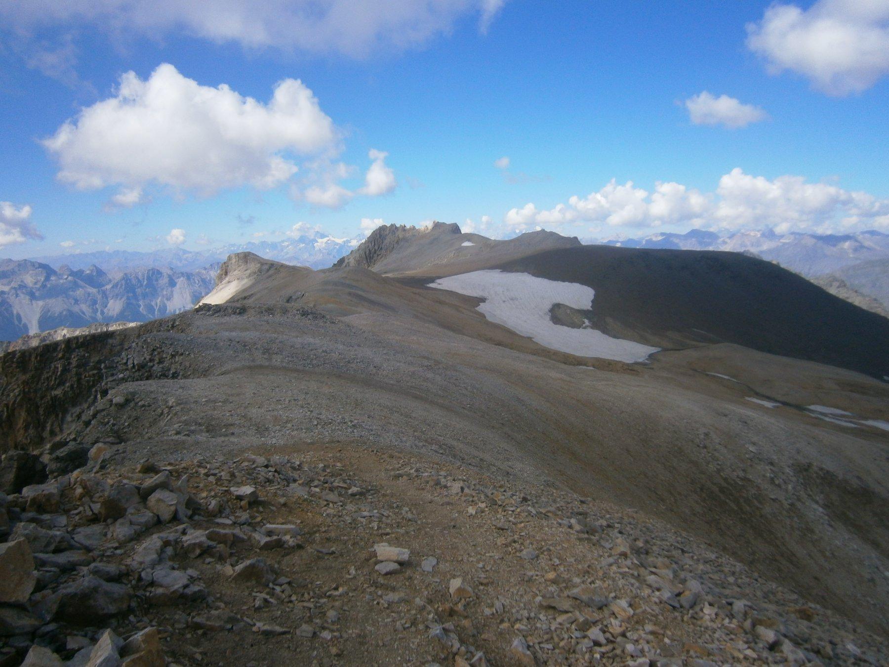 La dorsale dal Roc Peirous al m. del Vallonetto