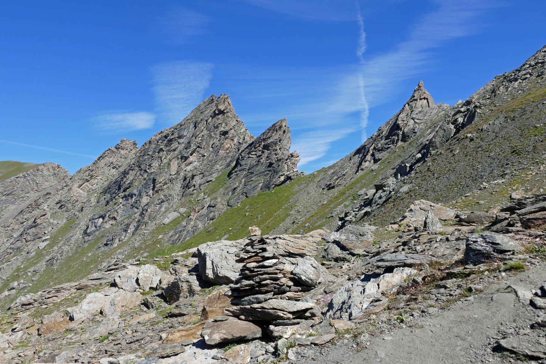 Bello scorcio panoramico salendo verso il passo Losetta