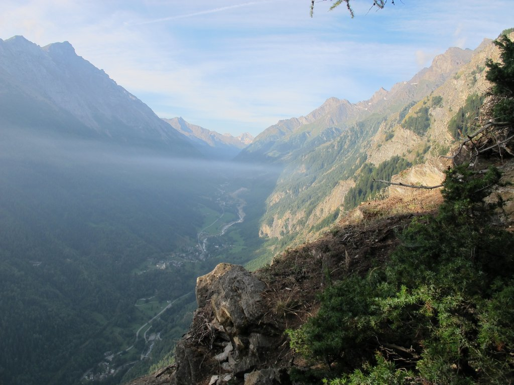Veduta della Val di Rhemes dai pressi della Croux de Bouque.