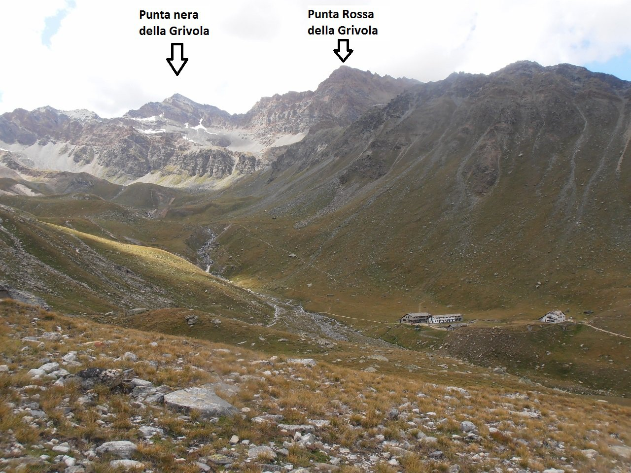 02 - Punta Nera, Punta Rossa e rifugio Vittorio Sella