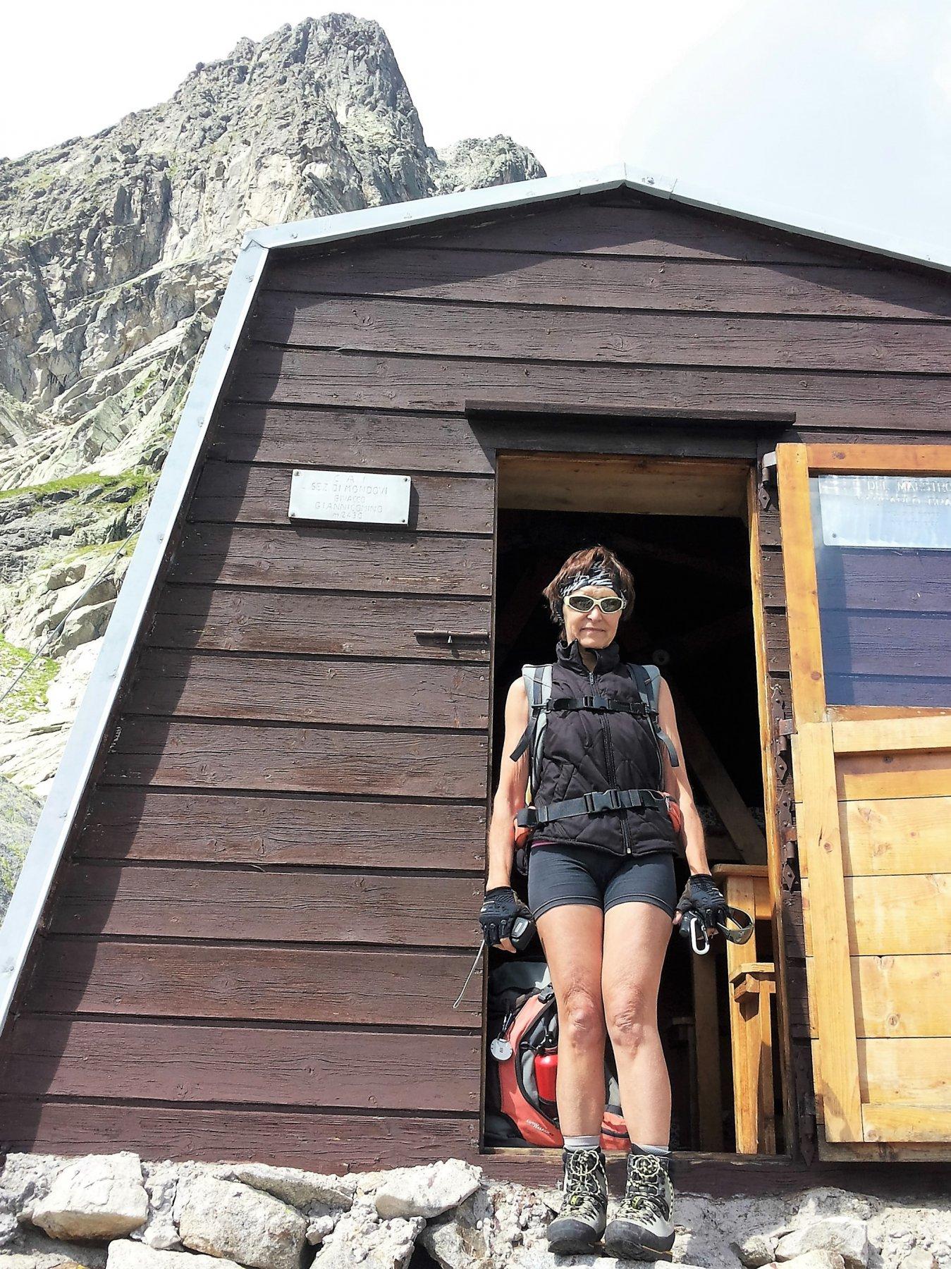 Germana al Bivacco, sotto il Mont Greuvetta