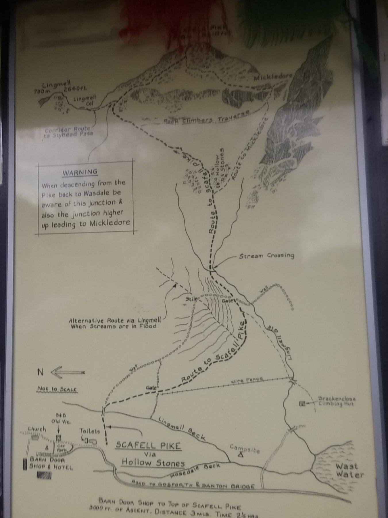 Cartello descrittivo a Wasdale Head