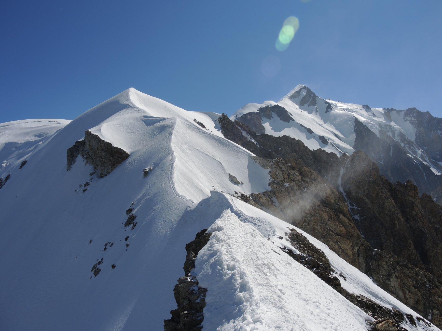 La cresta tra il Pitons des Italiens e la cresta delle Bosses
