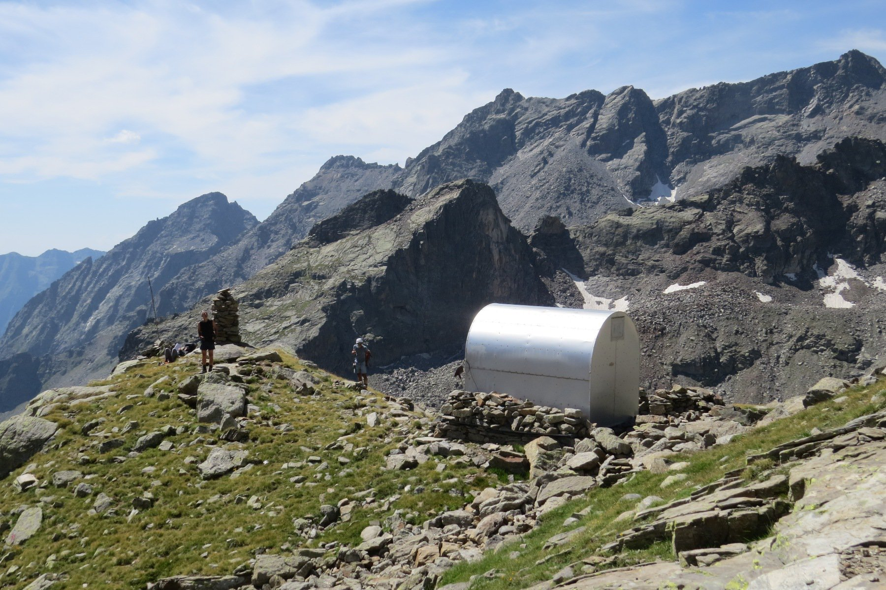 Carnere (Punta delle) quota 2875 dalla Diga di Teleccio 2016-08-17