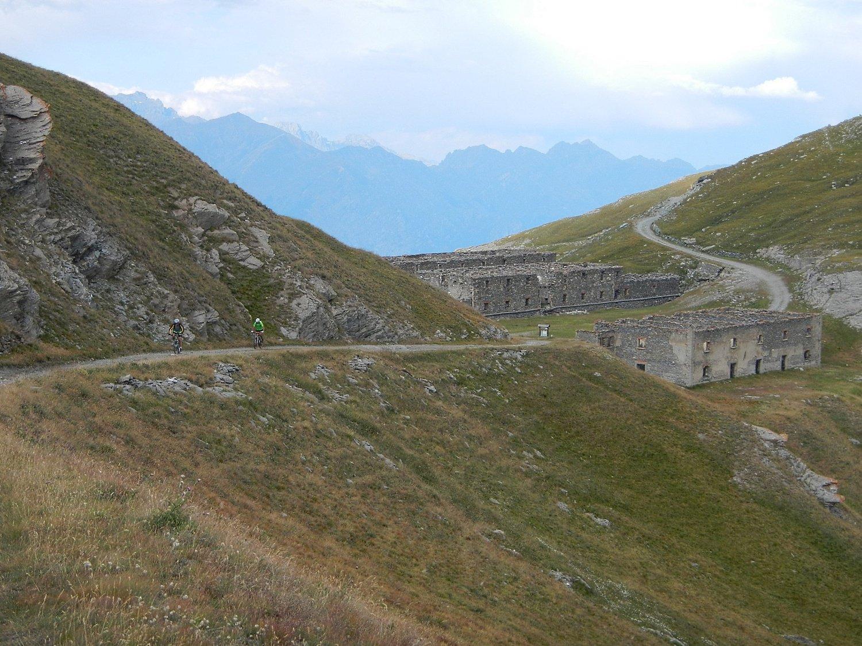 il tratto dalle casermette al Forte del Gran Serin