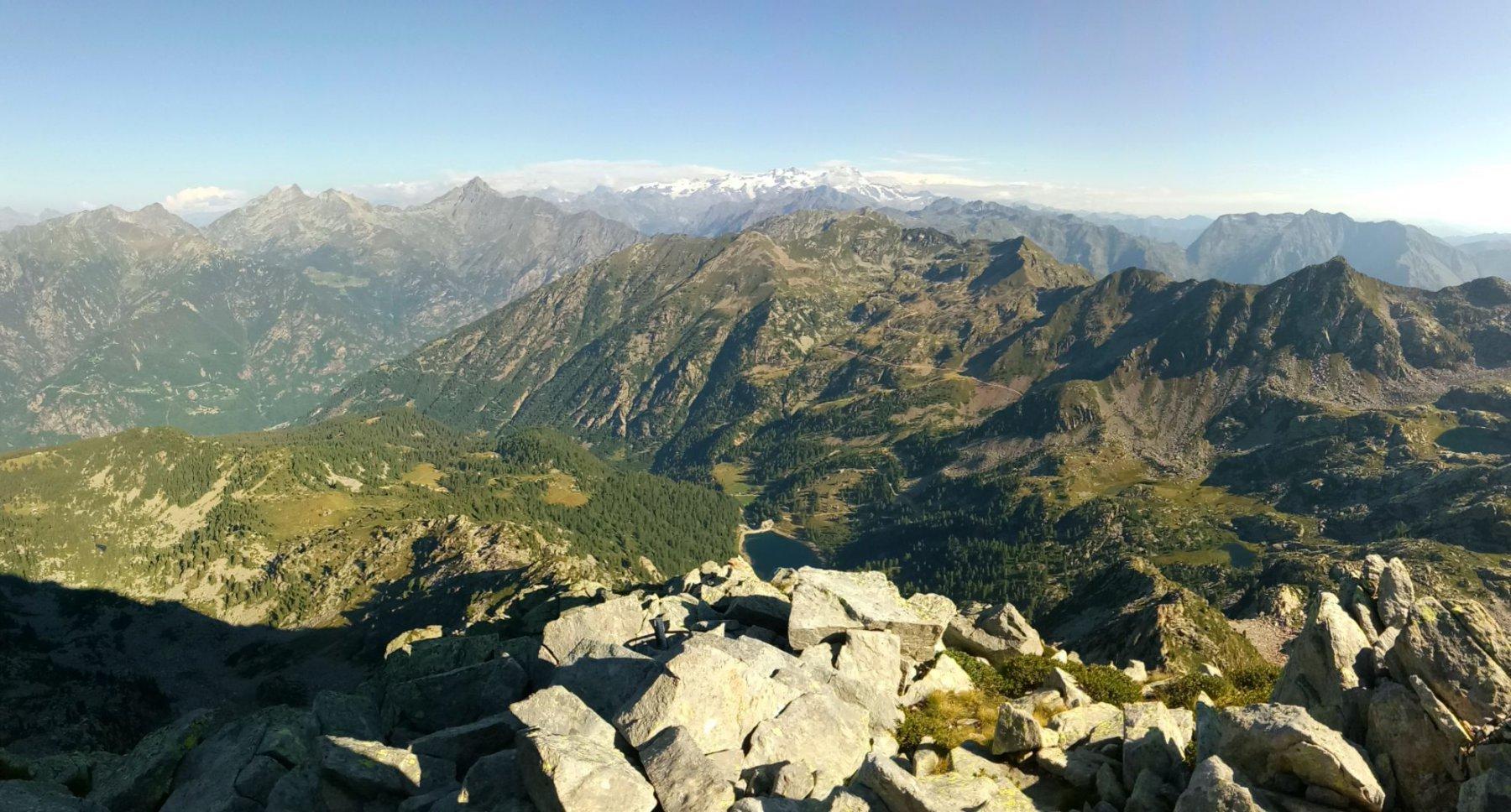 Panorama dalla cresta di salita