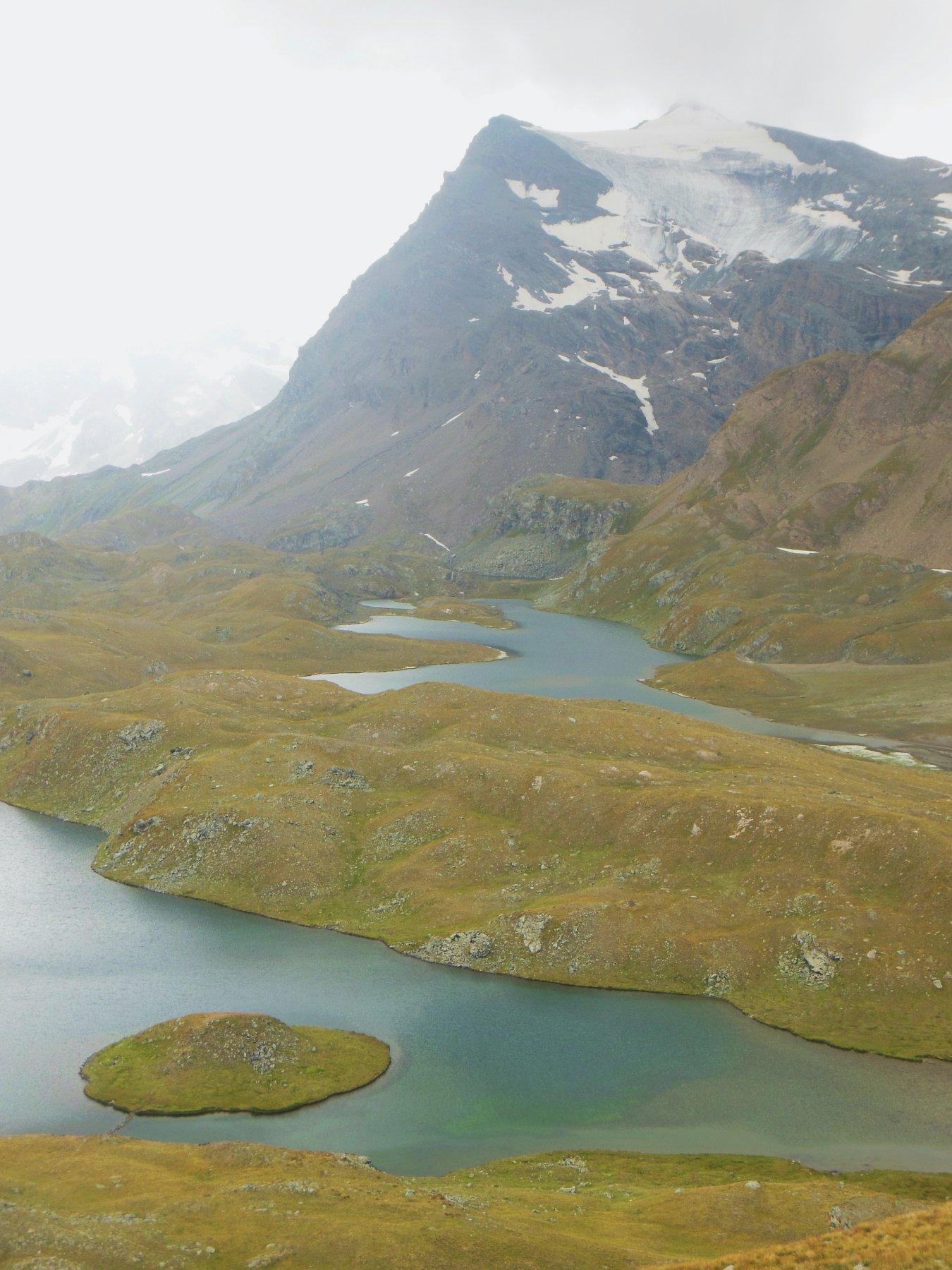 lago Rossett e Punta Basei sullo sfondo