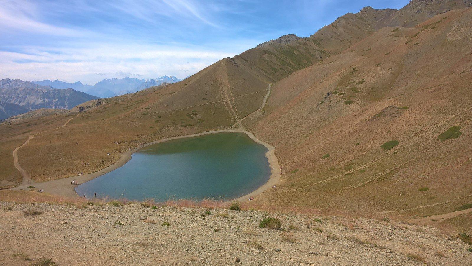 Il lago andando verso la Valle Gimont