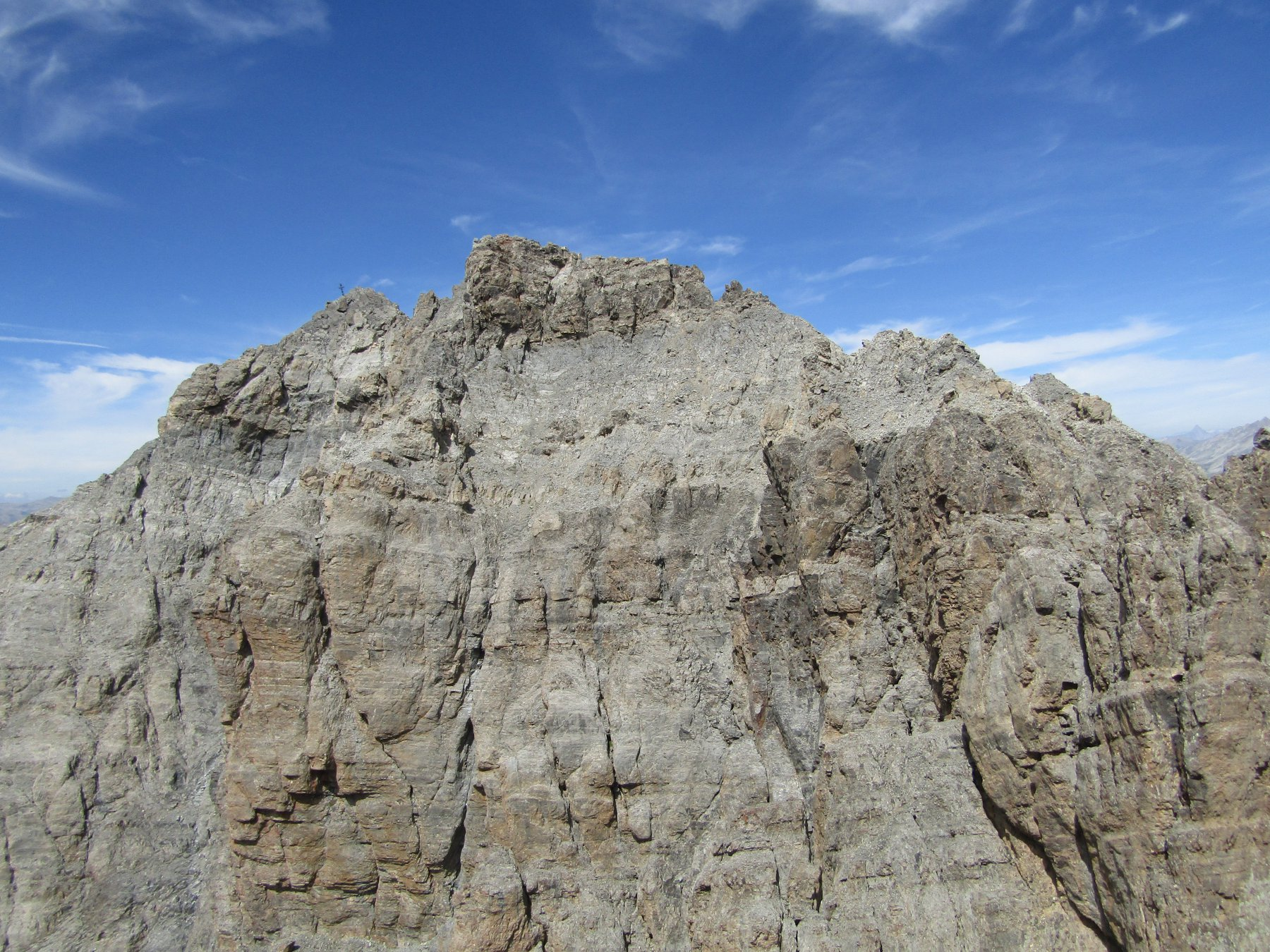 La cima dell'Oronaye da Cima Dronero