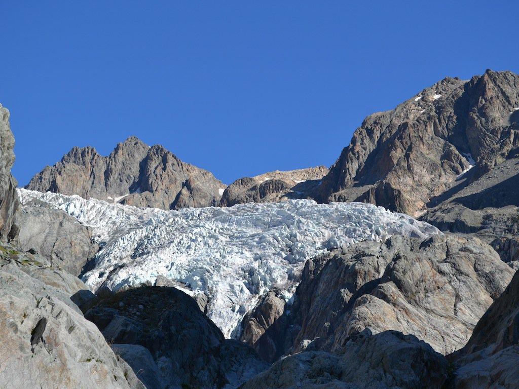 Il Glacier Blanc salendo al rifugio