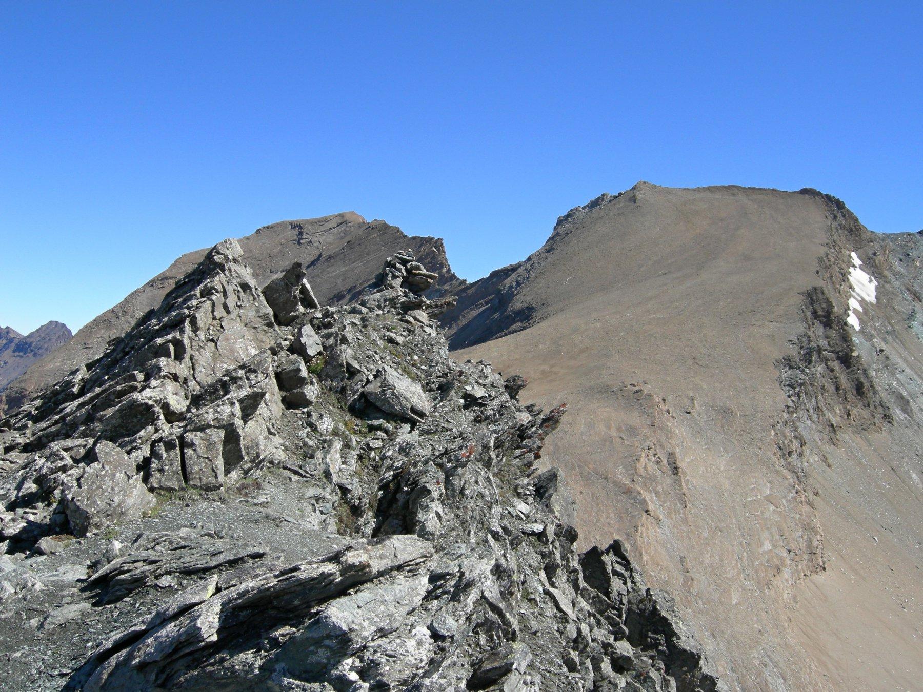 punta nord e Taou Blanc di sfondo