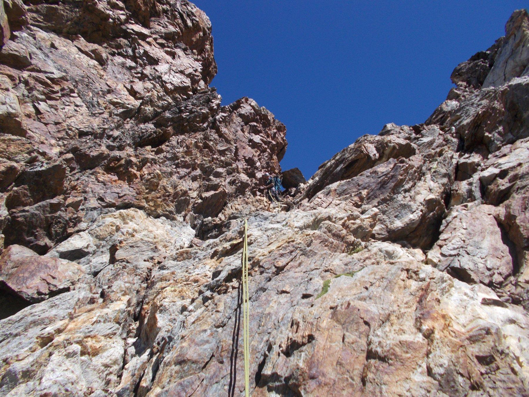 la discesa per la cresta ovest (normale) ancor peggio che la traversata..